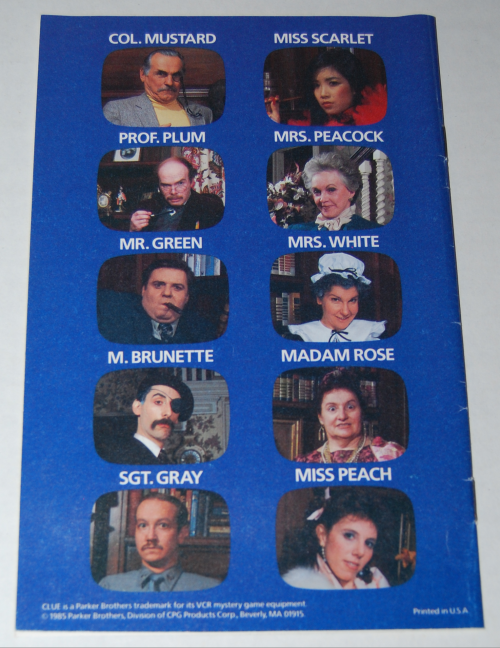 Clue vcr mystery game 8