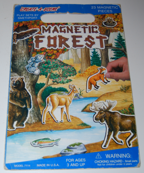 Magnetic forest play set