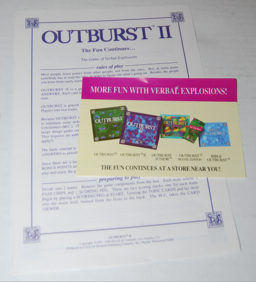 Outburst 2 board game 3