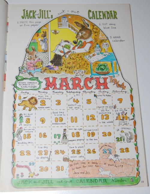 Jack & jill magazine march 1964 6