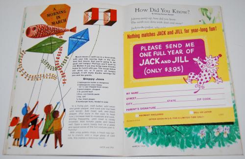 Jack & jill magazine march 1966 9