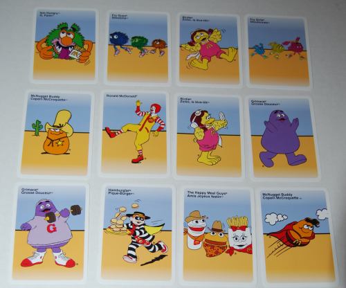 Mcdonald's happy meal card games 1