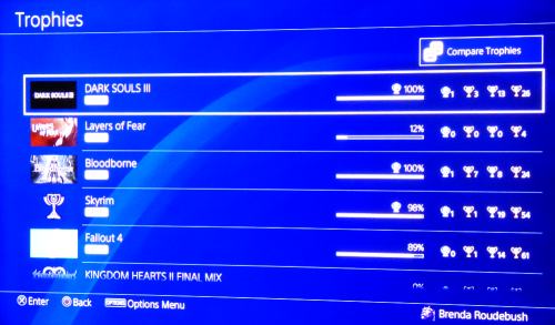 Trophies ps4