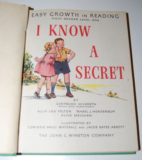 I know a secret 1947 vintage reader 1