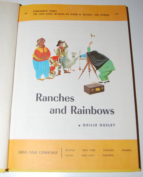 Ginn rainbows & ranches vintage reader 1