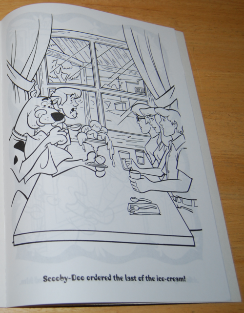 Scooby doo snackathon coloring book 6