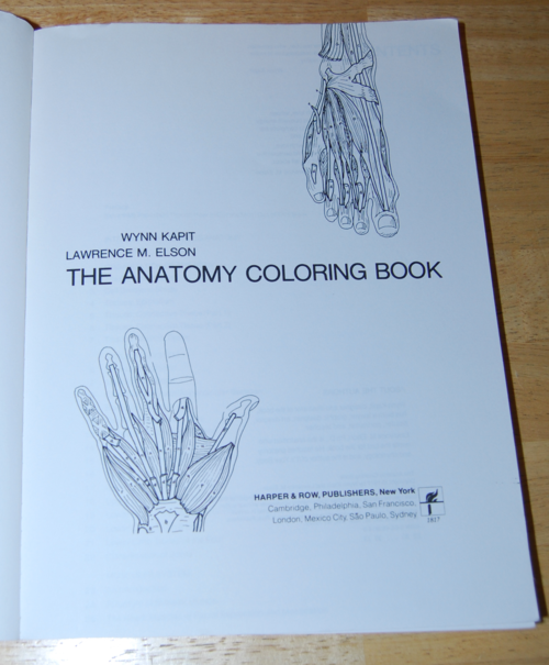 Anatomy coloring book 1