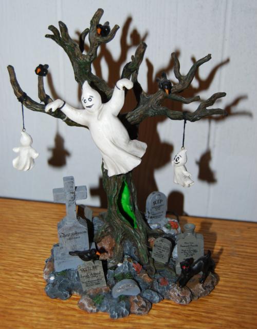 Lemax spookytown ghost tree