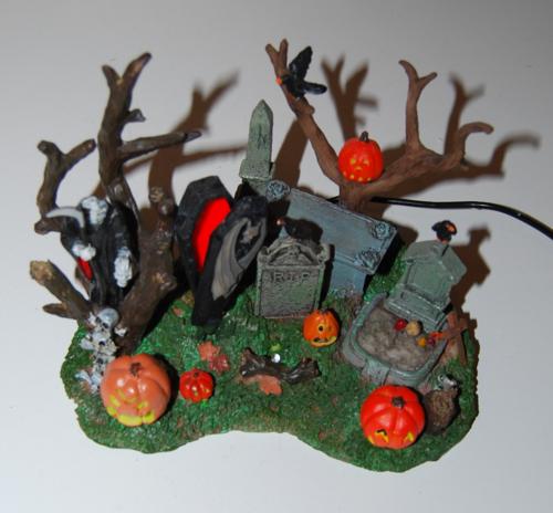 Lemax spooky town grim reaper graveyard 1