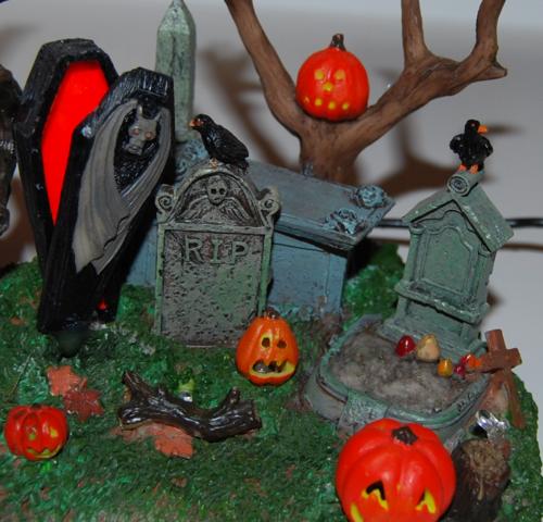 Lemax spooky town grim reaper graveyard 3
