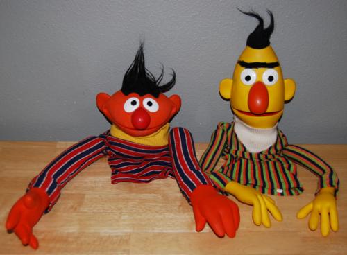 Vintage sesame street puppets ernie & bert