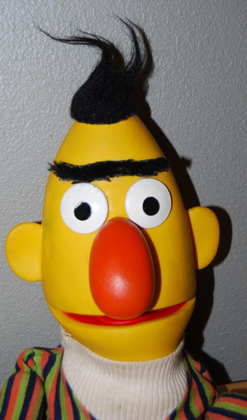 Vintage sesame street puppets bert x