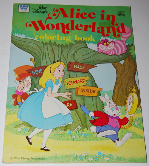 alice in wonderland coloring book - lost & found vintage toys