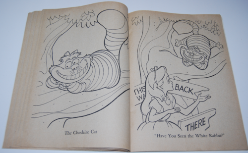 Alice in wonderland coloring book 9