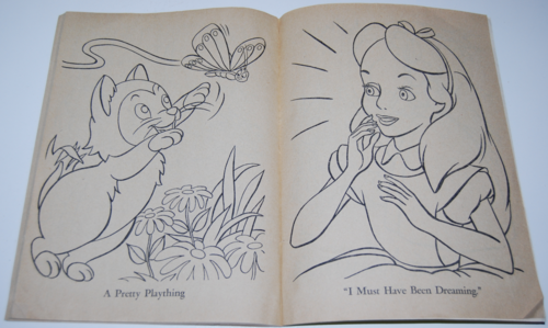 Alice in wonderland coloring book 11