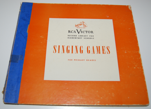 Rca victor vinyl 78s singing games for primary grades