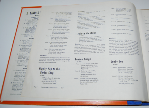 Rca victor vinyl 78s singing games for primary grades 3