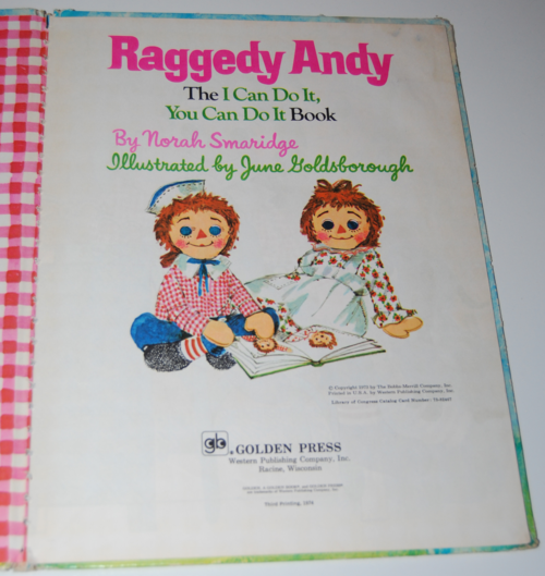 Raggedy andy book 1