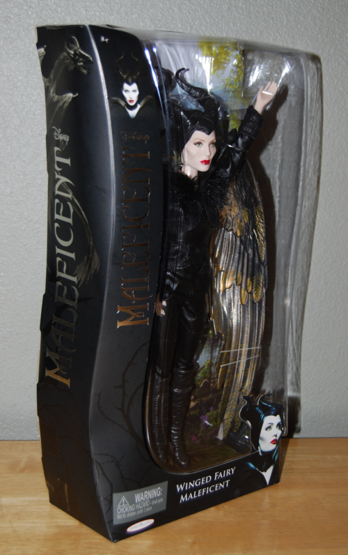 Winged fairy maleficent doll
