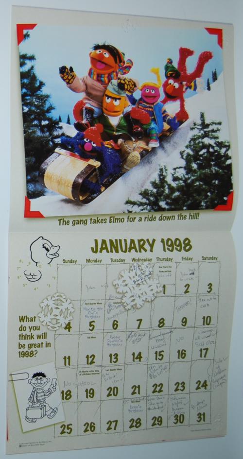 Sesame street calendar 1998 5