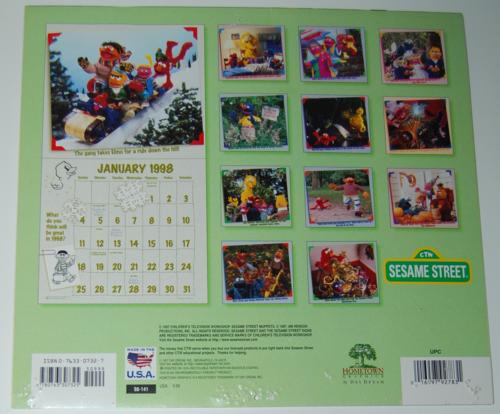 Sesame street calendar 1998 x