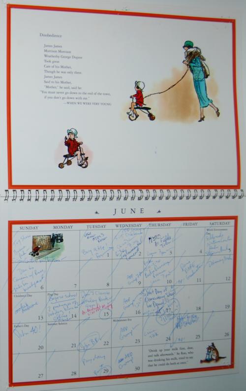 Winnie the pooh 1999 calendar 3