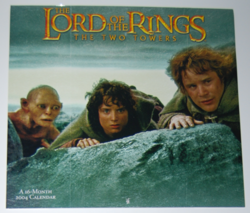Lotr two towers calendar 2004
