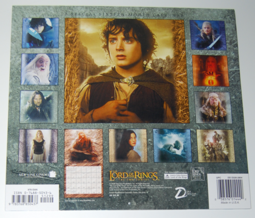 Lotr two towers calendar 2004 x