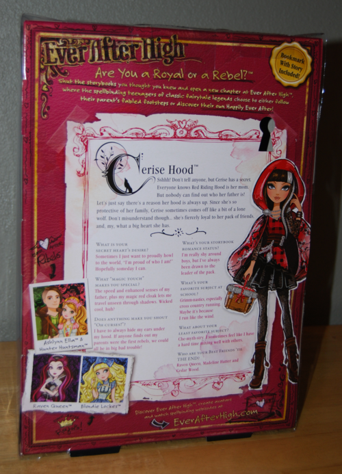 Ever after doll cerise hood 3
