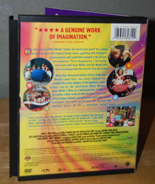 Willy wonka & the chocolate factory dvd x