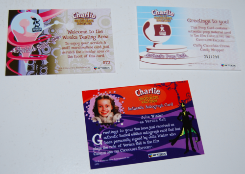Charlie & the chocolate factory cards 7