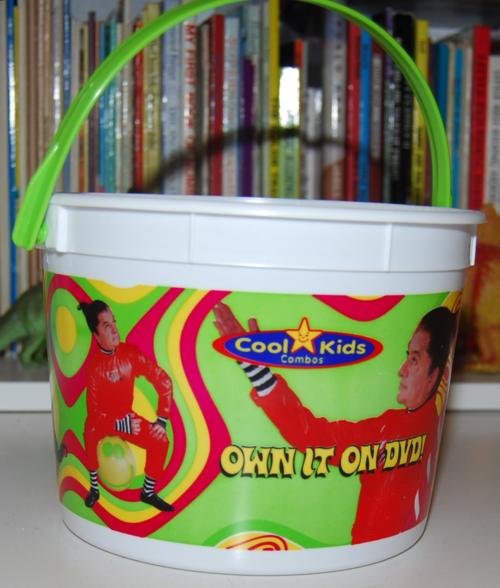 Charlie & the chocolate factory carls jr bucket x