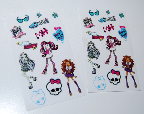 Monster high valentine mailbox stickers