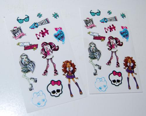 Monster high valentine mailbox stickers