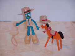 Western gumby & pokey superflex toys