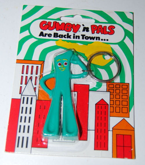 Vintage gumby keychain