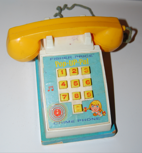 Vintage fisher price pop up pal chime phone