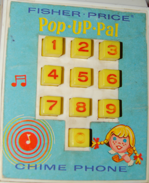 Vintage fisher price pop up pal chime phone 5
