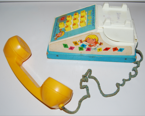 Vintage fisher price pop up pal chime phone 1