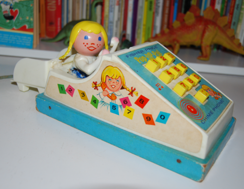 Vintage fisher price pop up pal chime phone 4