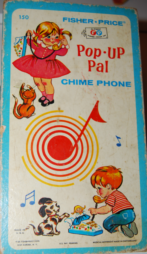 Vintage fisher price pop up pal chime phone 7