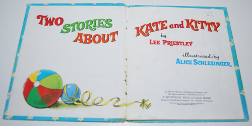 Two stories about kate & kitty whitman 1