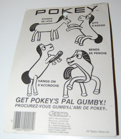 Gumby superflex pokey bendy toy moc jesco prema x