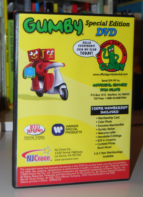 Gumby bendys & dvd set 5
