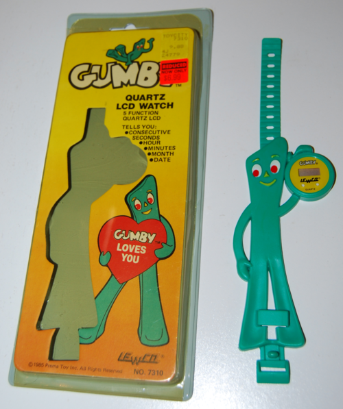 Gumby lcd quartz watch prema 1985 lewco 1