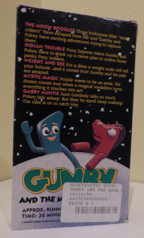 Gumby & the moon boggles vhs x