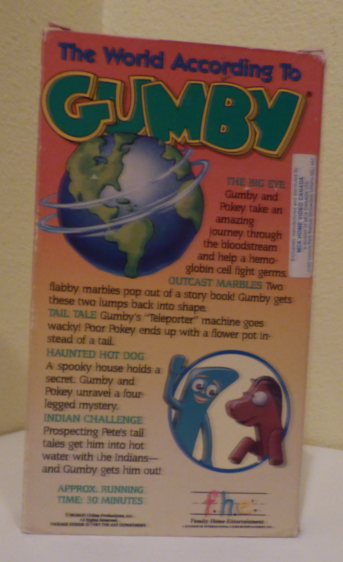 The world according to gumby vhs x