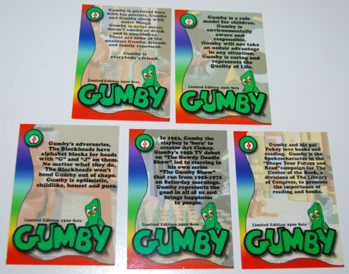 Gumby collector card preview set 3