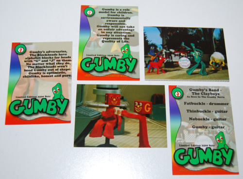 Gumby collector card preview set 2