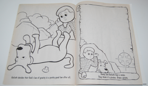 Davey & goliath coloring books 7